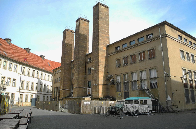 Blick in den Innenhof des Komplexes der Alten Münze. Hier fanden auch die Pornceptual-Open-Airs statt.