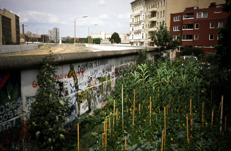 Garten an der Berliner Mauer in Kreuzberg, Nähe Mariannenplatz, um 1987. Foto: Imago/Brigani Art