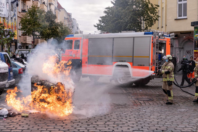 Vandalismus bei der Liebig34-Räumung.