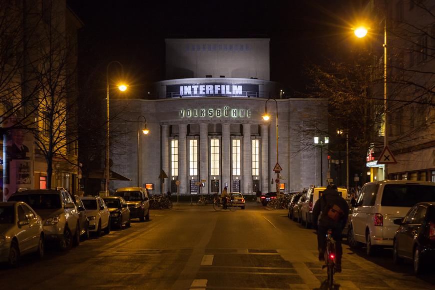 Ein weiterer Schauplatz des interfilm Festivals (wortwörtlich) ist normalerweise die Volksbühne.
