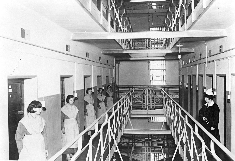 Das Frauengefängnis in der Barnimstraße, 1931. Foto: Imago/United Archives International