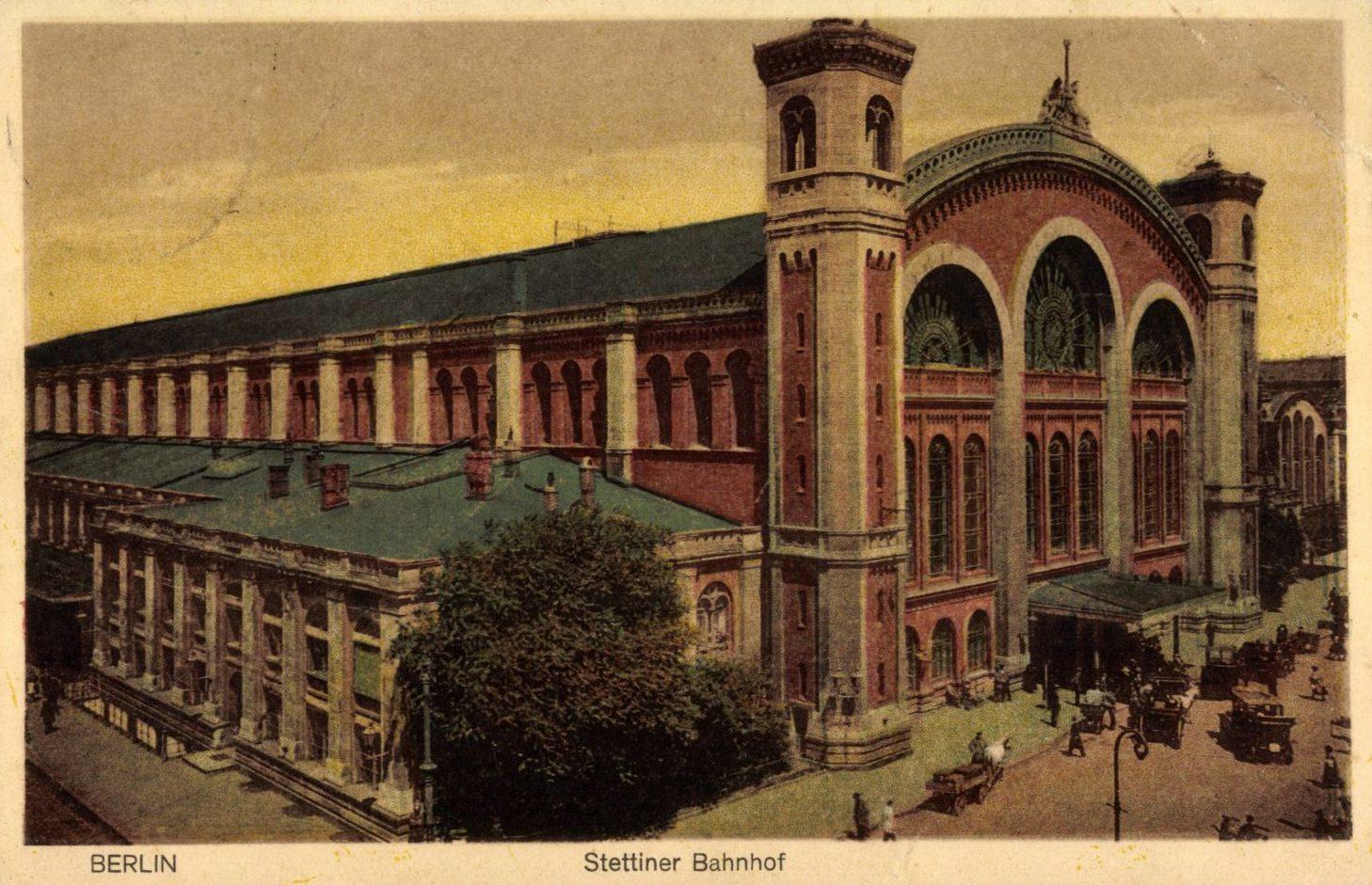 Berlin Bahnhöfe: Blick auf den Stettiner Bahnhof, 1931. Foto: Imago/Arkivi