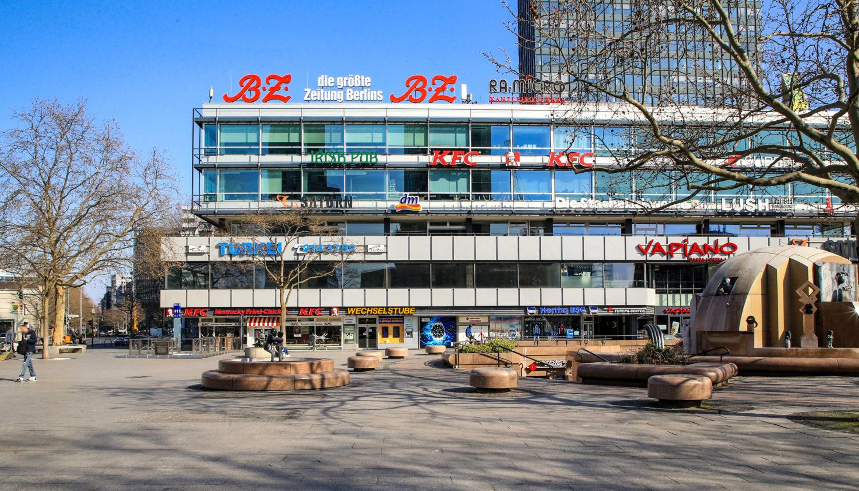 Shoppingcenter Einkaufszentrum Das Europa-Center befindet sich in unmittelbarer Nähe zur Kaiser-Wilhelm-Gedächtnis-Kirche und der Shoppingmeile Ku'damm. Foto: Imago/Andreas Gora