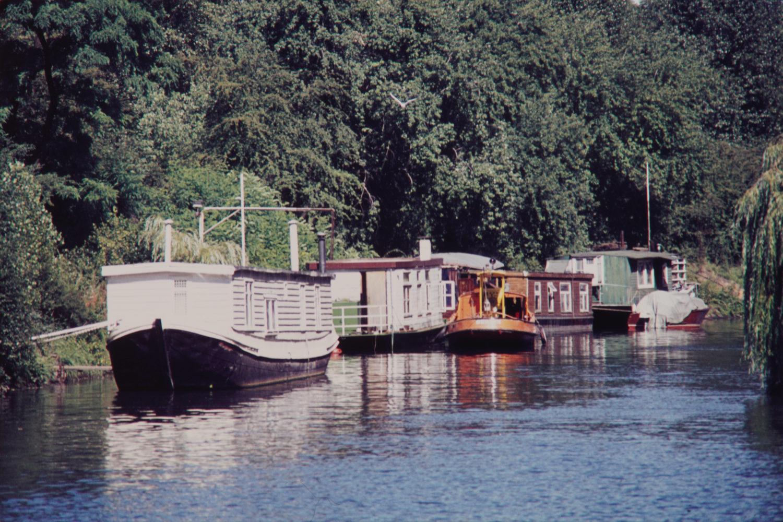 Hausboote auf dem Landwehrkanal, 1967. Foto: Imago/Serienlicht