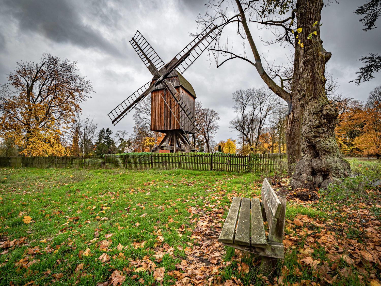 Berliner Berge: Die namensgebende Windmühle auf der Anhöhe Windmühlenberg. Foto: Imago Images/Jürgen Ritter