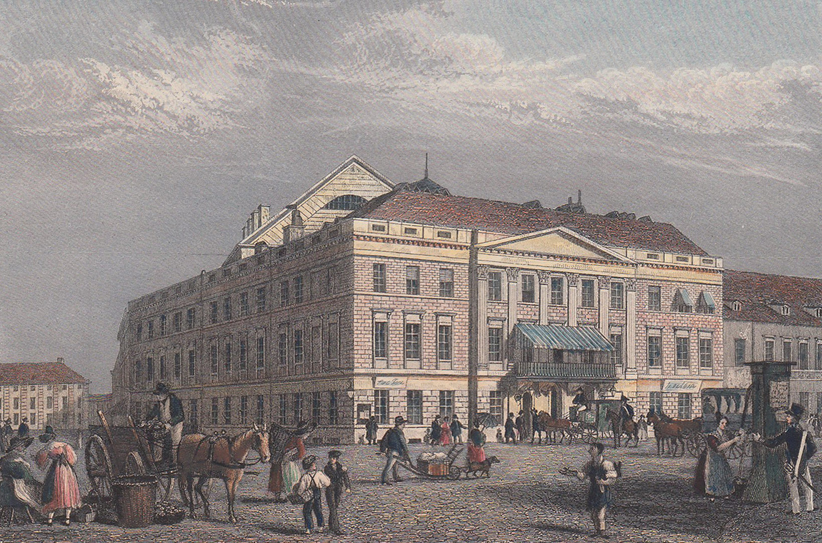 Gebäude des Königsstädtischen Theaters (1824–1851). Foto: Gemeinfrei