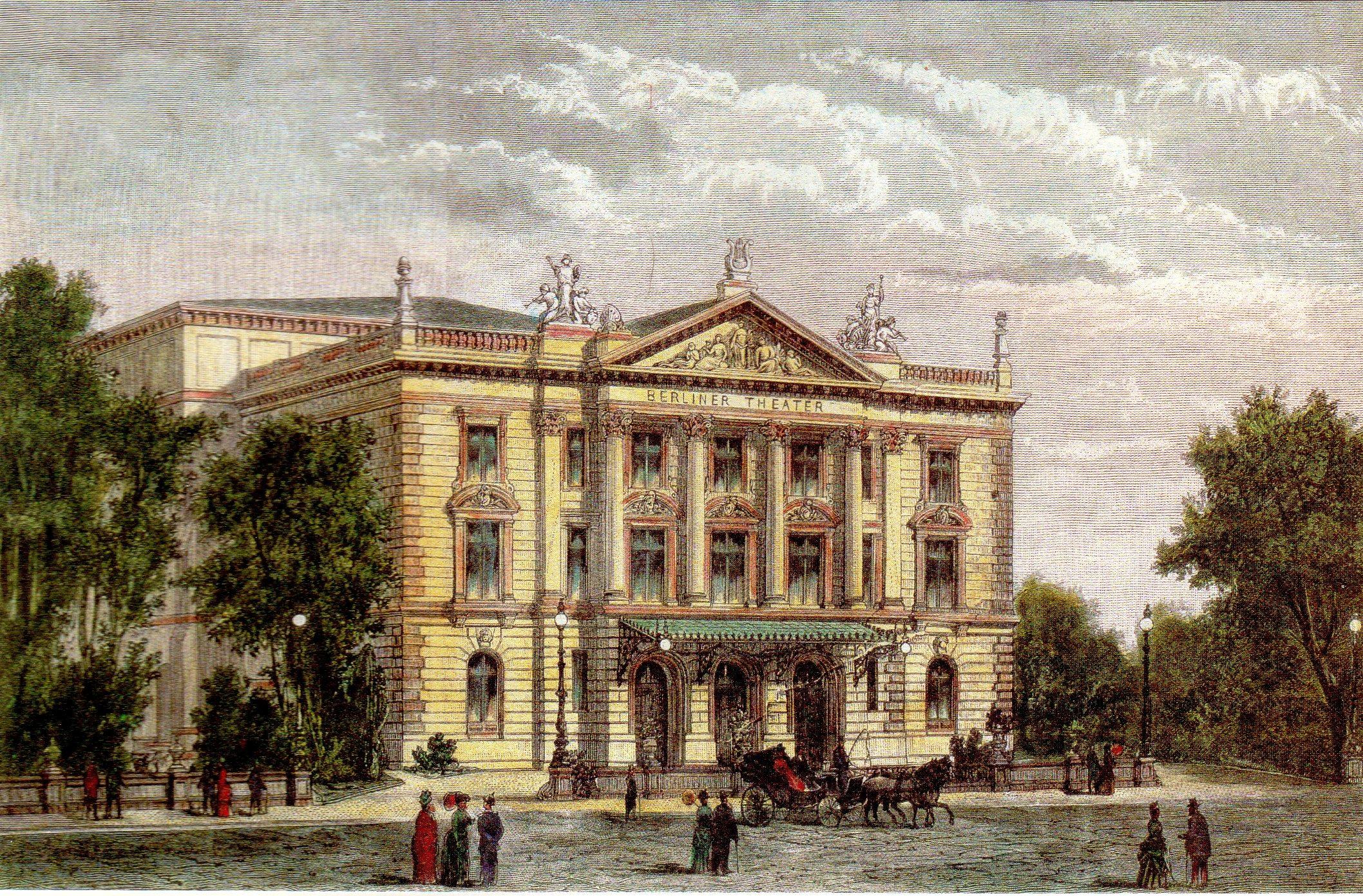 Das Berliner Theater in der Charlottenstraße im Jahr 1888. Foto: Gemeinfrei