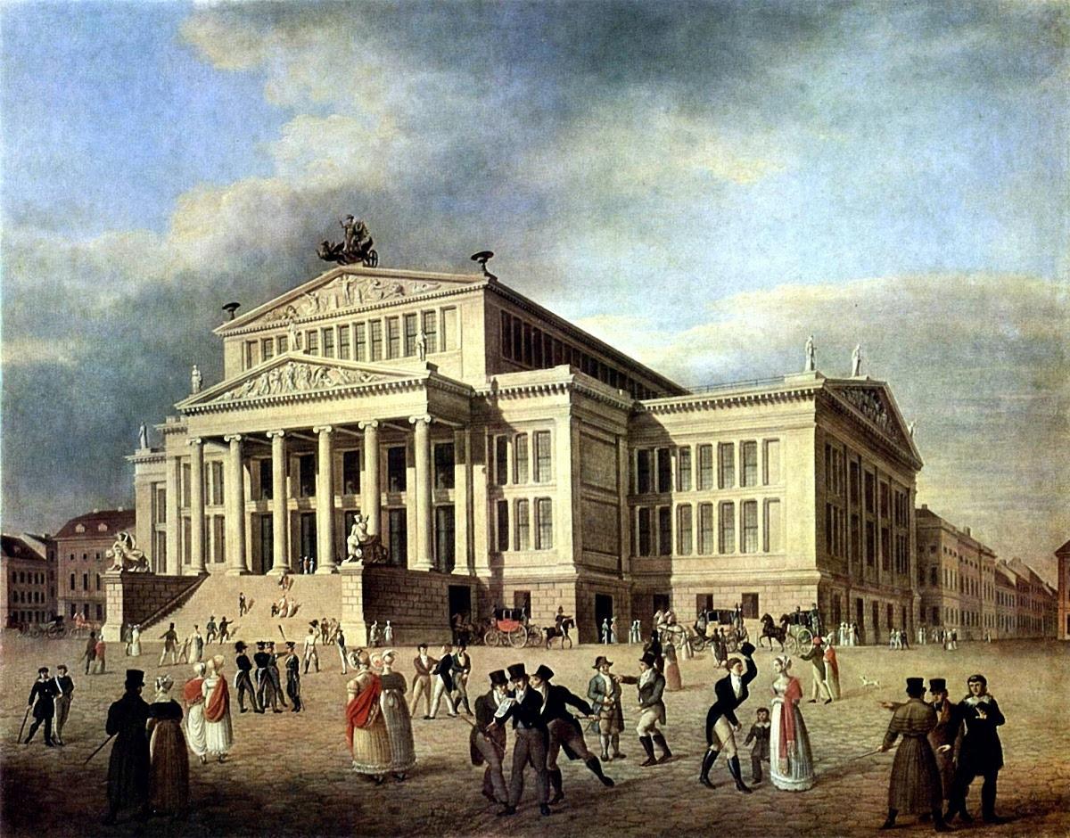 Das königliche Schauspielhaus, Darstellung aus dem 18. Jahrhundert. Foto: Gemeinfrei