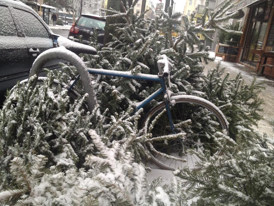 Kuriose Fotos aus Berlin: Im Frühling beginnt die neue Fahrradsaison. Foto: tipBerlin