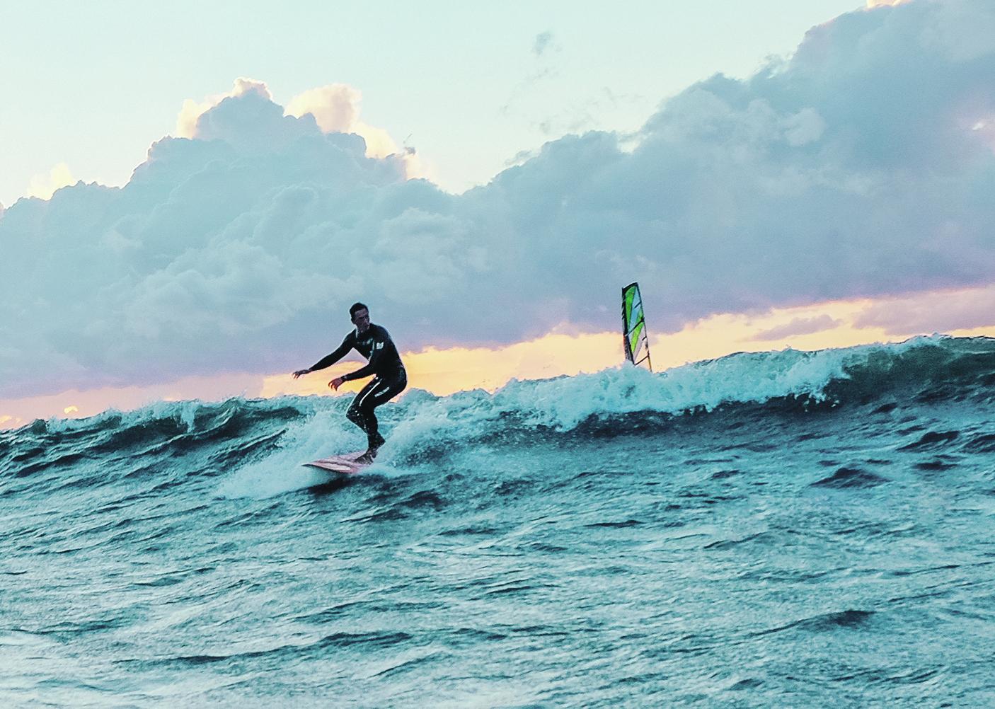 Surfen und Kiten an der Ostsee: unsere Tipps. Foto: Thilo Pentzin