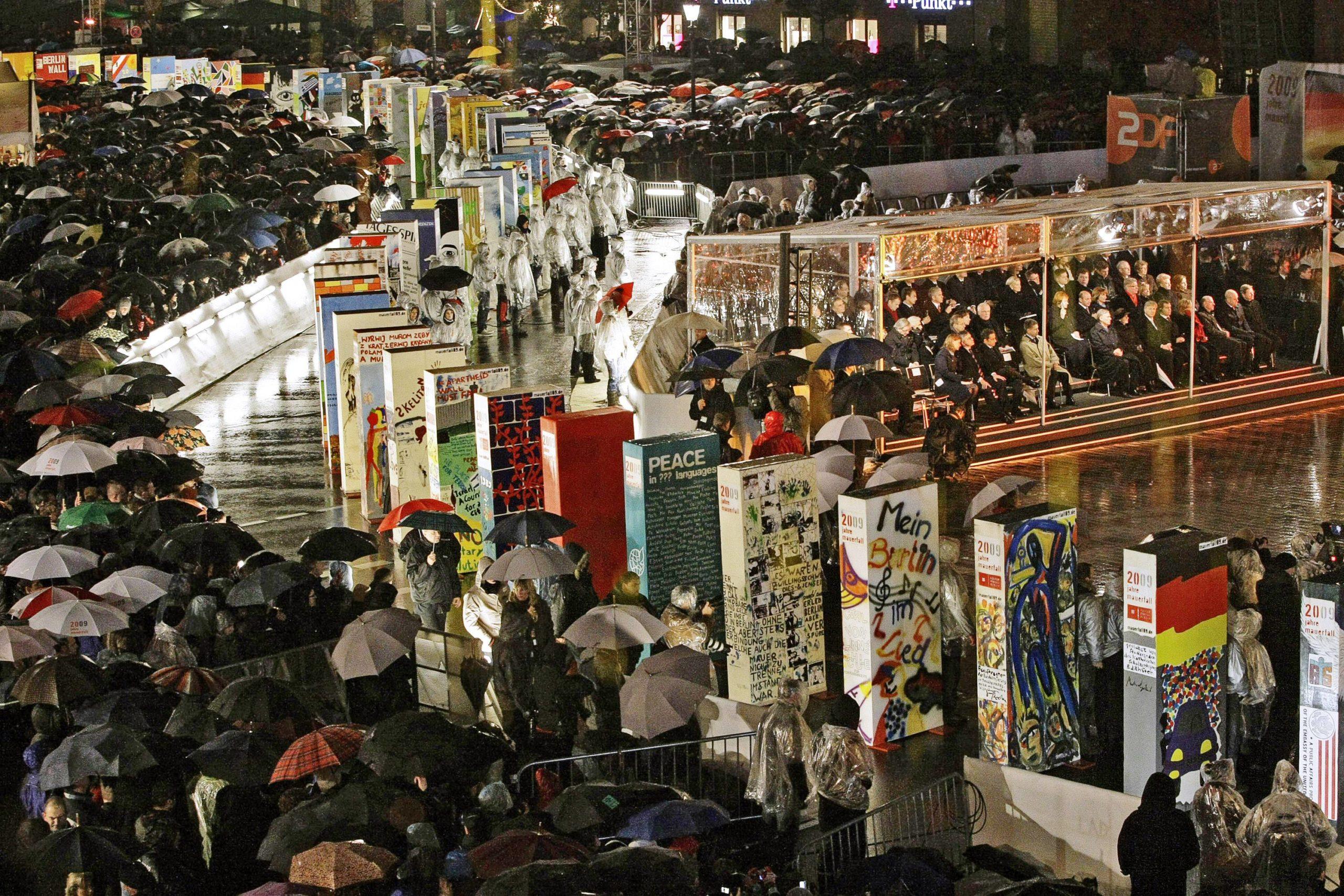 Feierlichkeiten zum 20. Jubiläum des Mauerfalls, 9. November 2009. Foto: Imago/Itar-Tass