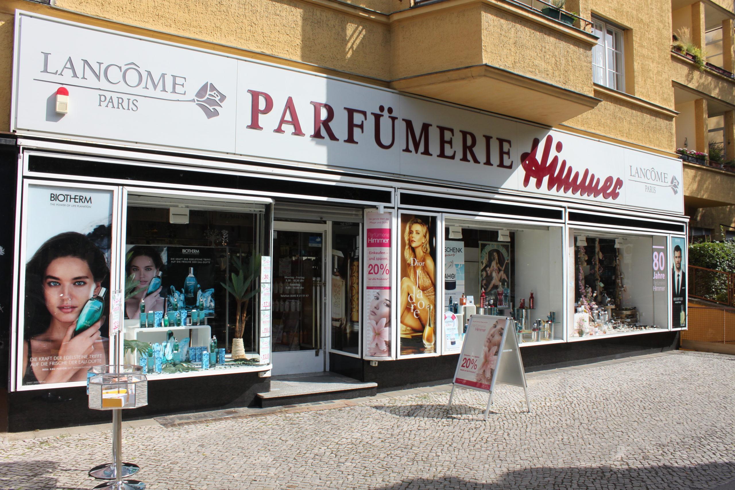 Himmer in Steglitz ist eine der ältesten Parfümerien in Berlin. Foto: Parfümerie Himmer