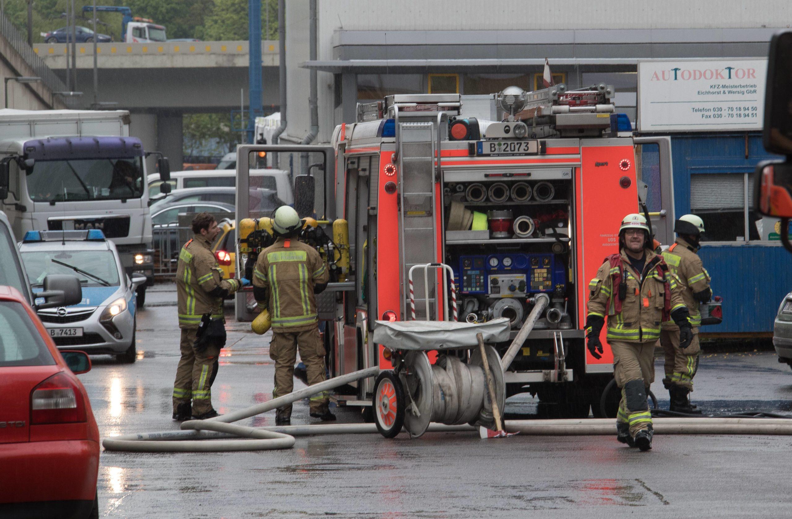 Feuer im Heizkraftwerk Wilmersdorf, 2017. Foto: Imago/Olaf Wagner