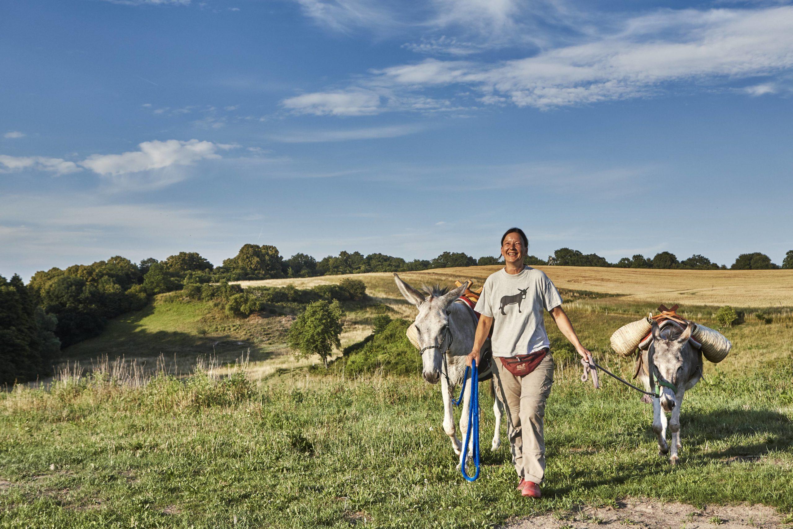 Ein ungewöhnliches Wochenende: Eselwanderung mit im Unteren Odertal. Foto: Imago/Michael Handelmann