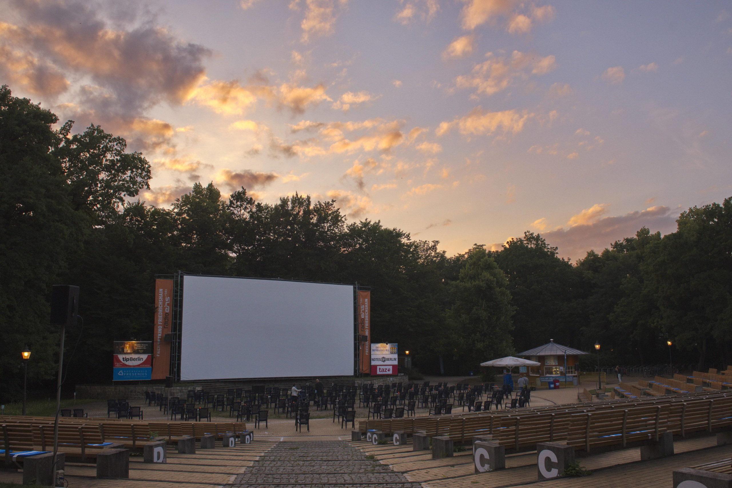 Eine der Spielstätten des Berlinale Summer Specials: das Freiluftkino Friedrichshain. Foto: Imago/Pop-Eye