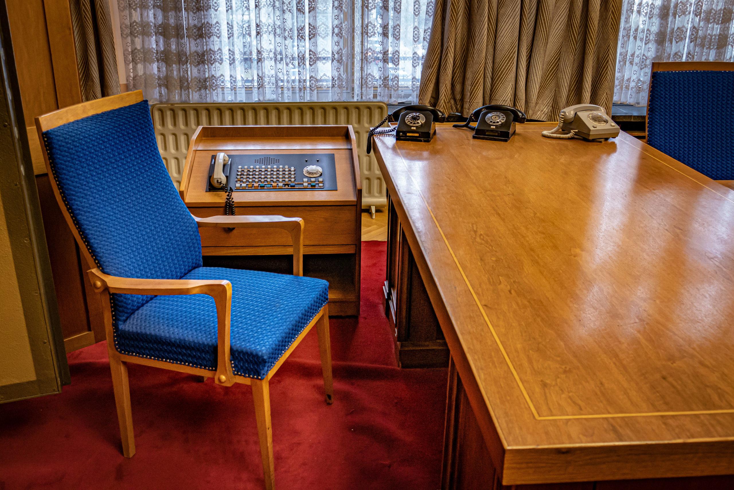 Das Büro des Ministers für Staatssicherheit, Erich Mielke, befindet sich in der zweiten Etage des Stasimuseums. Foto: Imago/Jürgen Ritter